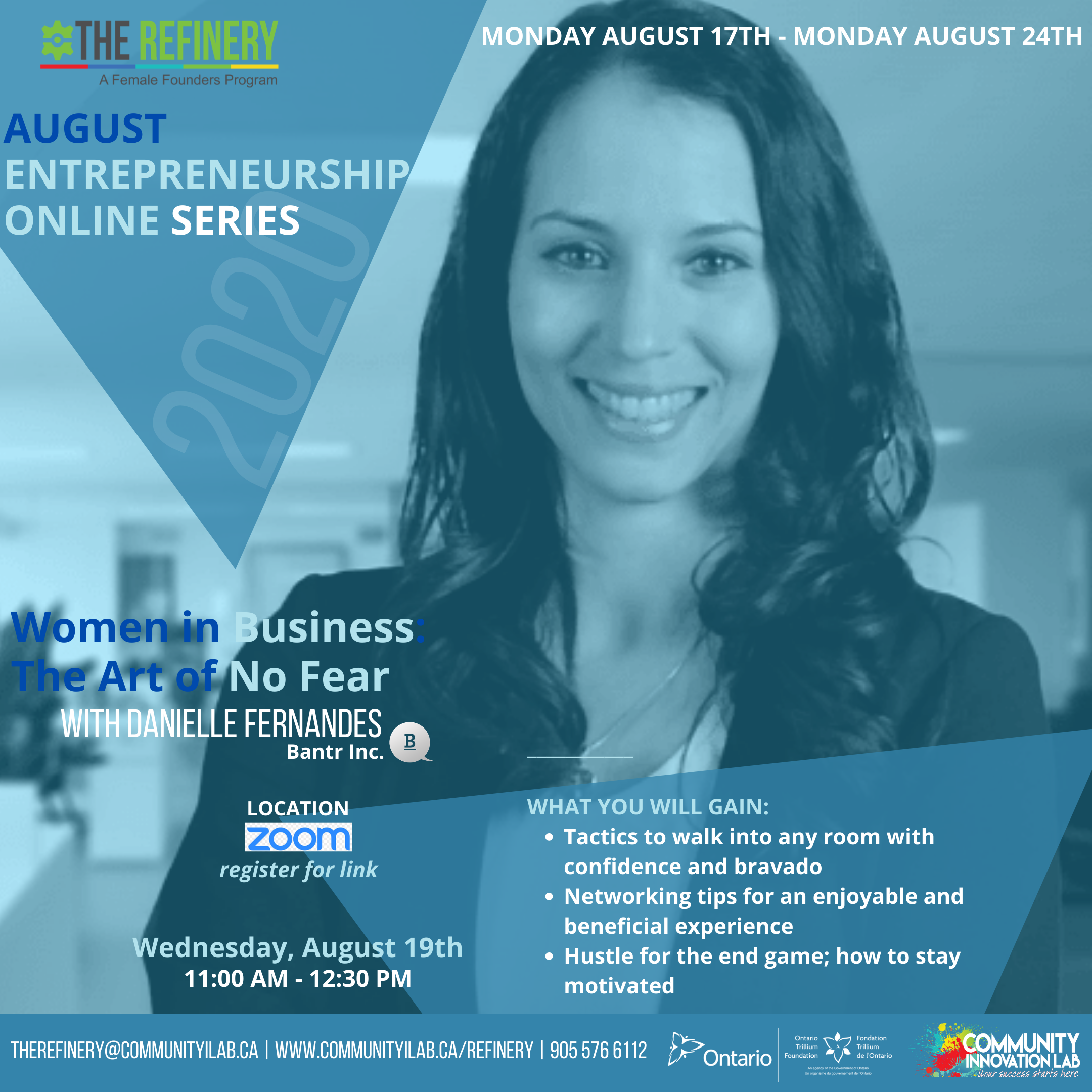August Entrepreneurship Online Series: Women in Business & The Art of No Fear